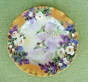 Bradford Exchange Plate- Crown Jewels- Lena Liu Delicate Treasures- Hummingbird