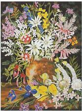 Australian Wildflowers needlepoint tapestry WOOL KIT 73  50 x 60 cm. SALE