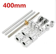 15pcs 400mm CNC Parts Optical Axis Guide Bearing Housings Aluminum Rail Shaft Su