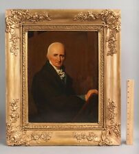 19thC Antique American School Portrait Oil Painting, Self Portrait of Artist NR