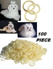 """100 pc 5/16"""" Latex Rubber&Rosin DOG Grooming HAIR BAND for Ribbon Bow Top Knot"""