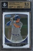 BGS 9.5 QUAD AARON JUDGE 2013 Bowman Chrome Draft Rookie RC GEM MINT QTY AVAIL