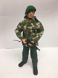 Vintage Action Man 1964 Flocked Hair British Soldier Royal Marine Beret Kitbash