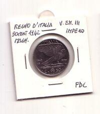 Regno d'Italia  50 cent.1942  Impero Magnetica  V.Emanuele III   FDC   (m1133)