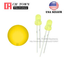 100pcs LED 3mm Diffused Yellow-Yellow Round Top F3 DIP Light Emitting Diode LED