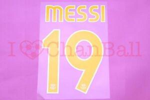 Messi #19 2007-2008 Barcelona Homekit Nameset Printing