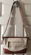 NEW COACH White Sand Mini Signature C Purse Shoulder Bag Satchel 10945 $268