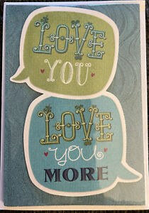 "Hallmark ""Love You, Love You More"" Women Anniversary Greeting Card"