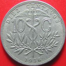 1936 BOLIVIA 10 CENTAVOS MEDAL ROTATION LLAMA BOLIVIAN WORLD COIN 4.4gr 22.5mm