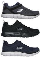 SKECHERS 52631 TRACK SCLORIC Memory scarpe uomo sportive sneakers pelle tessuto
