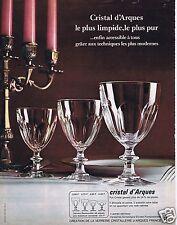 Publicité Advertising 066 1969 Cristal d'Arques verres service Rambouillet
