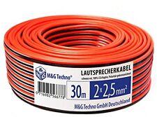 Rojo Negro 30 M 2 X 2.5 mm M Y G Techno Alemania Cable de altavoz 100% CCA Cobre