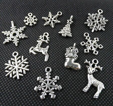 11PCS Mixed Tibetan Silver Christmas Suit Charms Pendant For Jewelry Making
