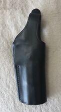 BIANCHI BLACK LEATHER HOLSTER - VINTAGE  MODEL 19 BROWNING 9MM HI-POWER HANDGUN