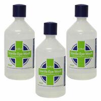3 Paquete De CMS 500ml Primeros Auxilios Esterilizado Salino Solución Ojo &