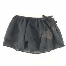 Freestyle Danskin Girls Tutu Skirt Dance Sheer Layered Black Size XS 4/5