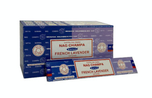 Satya French Lavender Nag Champa Incense Joss Sticks 15g available in 3/12 Pack
