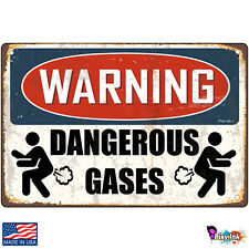 Warning- Dangerous Gases Decorative Signs & Plaques