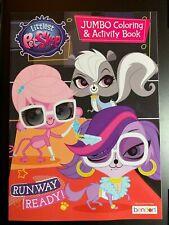 LITTLEST PET SHOP JUMBO COLORING AND ACTIVITY BOOK RUN WAY READY! NEW KIDS FUN