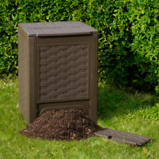 Compostiera compostiere composter rattan 300lt 60x60x83 TOOMAX concimi giardino