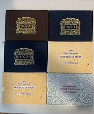 Republic India 1972 1973x2 1975 1976 1977 Proof Sets Lot Of 6 10 Coin Sets Rare
