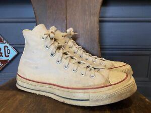 vintage 1960's Converse Chuck Taylor Shoes Men's size 8 White