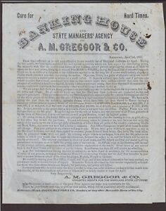 Md: Baltimore 1855 McGregor Banking House 4 Pg. Printed Lottery Letter