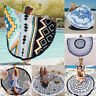 Round Geometric Indian Hippie Boho Tapestry Beach Cover Blanket Throw Towel Mats