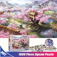 Sakura Villa 1000 Pieces Jigsaw Puzzles Educational Toys Assembling Puzzles Toys