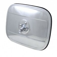 "1947-72 6""X8"" STAINLESS STEEL EXTERIOR RECTANGULAR SQUARE REAR VIEW MIRROR HEAD"