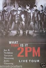 "2PM 'WHAT TIME IS IT - LIVE TOUR"" POSTER - K-Pop Music, Korean Boy Group"
