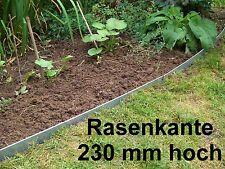 3er Set Rasenkante Beeteinfassung  Stahlblech feuerverzinkt 1mm stark 23cm hoch