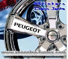 8 STICKER AUTOCOLLANT LOGO JANTE PEUGEOT 206 306 307