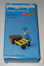 Marx playpeople Original Vintage 1974 Playmobil Figura de Stock de tienda de ferrocarril Porter