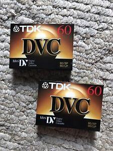 2TDK DVC 60/SP 90/LP Mini DV Video Cassette.    Sealed
