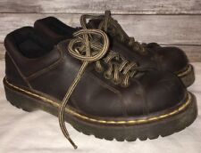 DR MARTENS Brown Leather Oxford Lace Up Shoes Mens AW004 Sz 9