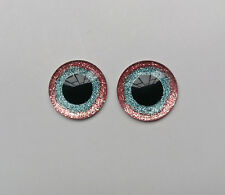 Hand Made Blythe Eye Chips Pink Blue (1 pair)