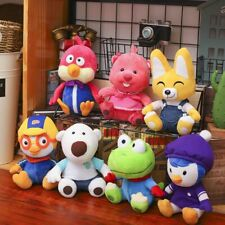 7PC/Set Korea Pororo Penguin Petty Eddy Crong Loopy Poby Plush Toy Doll Kid Gift