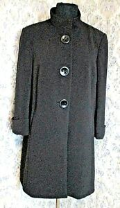 Black coat by BHS Size 16 Back pleat High neck
