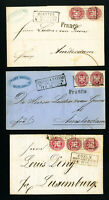 Prussia Stamps on 3x Covers