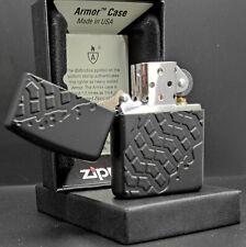 Zippo TIRE TREAD / Reifenprofil Muster, Color Zippo Black, Armor Case, 60001619