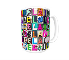 ADELAIDE Coffee Mug / Cup featuring the name in photos of sign letters