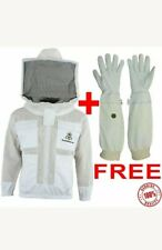 Unisex Premium Protecting 3 Layer Ultra Ventilated BeekeepingJacket Round Veil.L