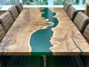 Transparent Green Wooden Walnut Resort Decorative Custom Epoxy Table Furniture