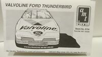 AMT Ertl Valvoline Ford Thunderbird Model Instruction Sheet No. 8756