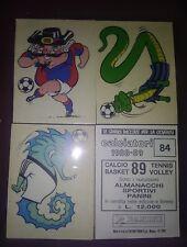 figurine CALCIATORI PANINI 1988-89 vedi lista solo mascottes e Stick stack
