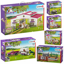 Schleich Horse Stable Stalls & Equestrian Riding Centre inc Horses & Accessories