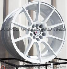 17X9 F1R F17 WHEEL 5x100/114.3 +38MM WHITE RIM FITS SCION TC 2005-2010