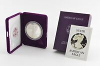 1986 American Silver Eagle - Proof - 1 Oz. Silver Bullion Velvet Box & COA *982