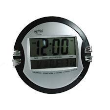 AJANTA DIGITAL WALL CLOCK SILVER BLACK COLOR MODEL ODC–110 WITH 1 YEAR WARRANTY